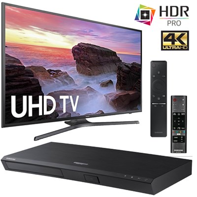 UN40MU6290FXZA Flat 40` LED 4K UHD Smart TV + UBD-M7500 4K Blu-Ray Player