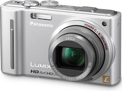 LUMIX 12.1 MP Digital Camera with 16x Intelligent Zoom (Silver) - OPEN BOX