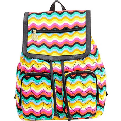 Karry Quilted Cotton Flap Backpack, Rainbow
