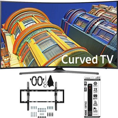 UN55KU6500 - Curved 55-Inch 4K Ultra HD LED Smart TV w/ Tilt Wall Mount Bundle