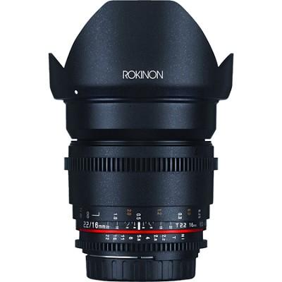 Cine DS 16mm T2.2  Cine Wide Angle Lens for Nikon SLR