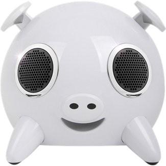 Amethyst A1-BT 2.1 Pig Speaker System - 6.5 W RMS - Wireless Speaker(s) - White