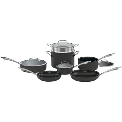 DSA-11 - Dishwasher Safe Hard Anodized 11-Piece Cookware Set