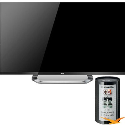 47LM7600 47` 1080p 240Hz LED Plus LCD Smart Cinema 3D HDTV with 12 Glasses Total