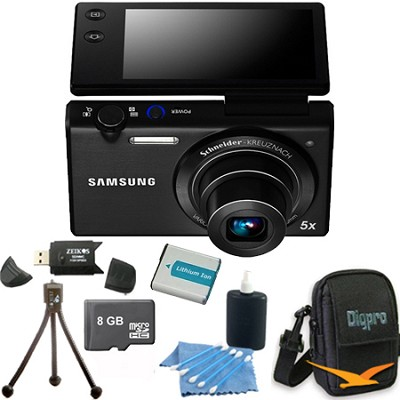 MV800 16.1 MP 3.0` MultiView Black Compact Digital Camera 8GB Kit