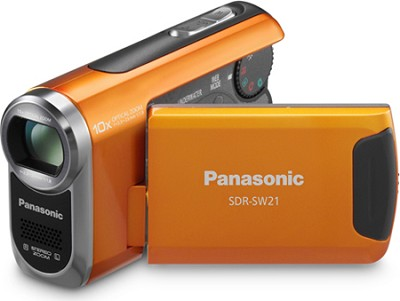 SDR-SW21D TOUGH SD Camcorder with 10X Zoom (Orange)