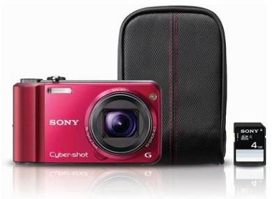 Cyber-shot DSC-H70 Red Digital Camera Bundle - REFURBISHED