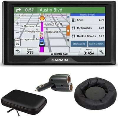Drive 60LM GPS Navigator (US) 010-01533-0C Case + Mount + Car Charger Bundle