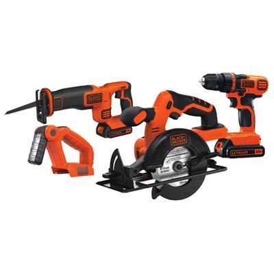 20V MAX Drill/Driver Circular and Reciprocating Saw Combo Kit - BD4KITCDCRL