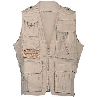 Safari Vest Khaki Small Size