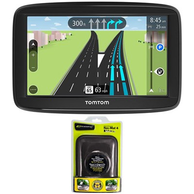 VIA 1625TM 6` Touchscreen GPS Navigation Device Lifetime Maps with Dash Mount