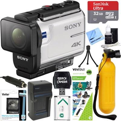 FDR-X3000 4K Action Camera w/ Balanced Optical SteadyShot + Water Action Kit