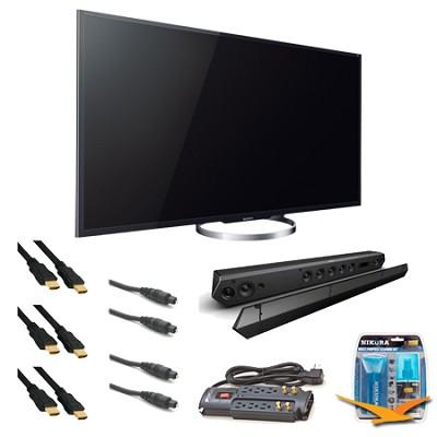 XBR65X850A 65-Inch 4K Ultra HD 120Hz 3D LED HDTV Sound bar Bundle