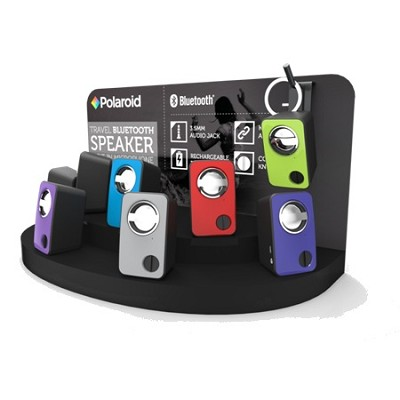 Bluetooth Keychain Speaker w/ USB Charge Cable - Pink