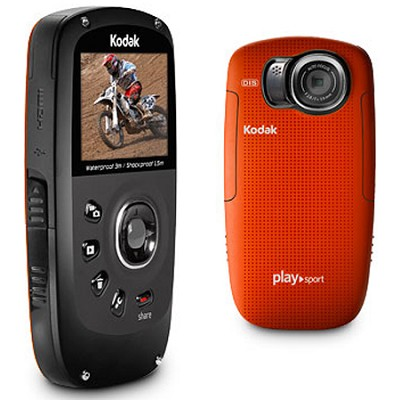 Playsport Zx5 Waterproof Pocket HD Video Camera Red