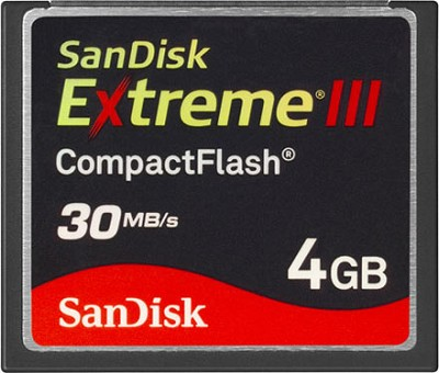 4 GB Extreme III CompactFlash Memory Card 30MB/S {SDCFX3-004G-A31}