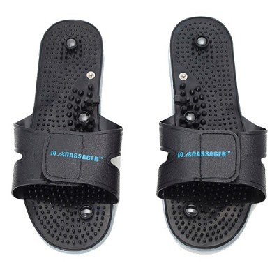 1 Pair of Black Slippers - Works With all IQ Massager Products