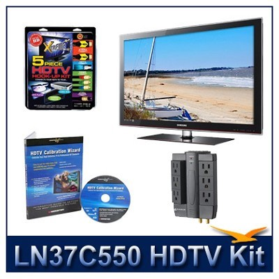 LN37C550 HDTV + High-performance Hook-up Kit + Power Protection + Calibration