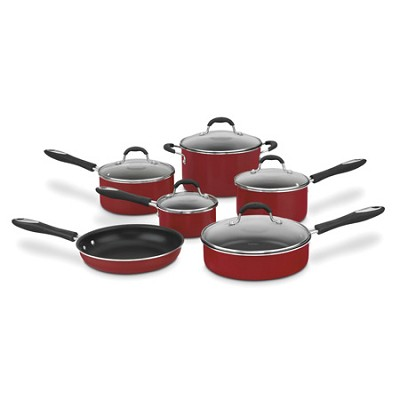 55-11 Advantage Non-Stick 11-Piece Cookware Set - Red