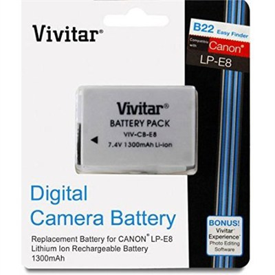 Replacement Battery Pack LP-E8 For Canon EOS Rebel T2i T3i T5i