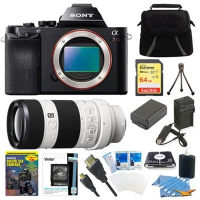 A7R (Alpha 7R) Camera + SEL 70-200mm F4 G OIS Lens Accessory Bundle