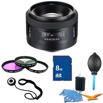 SAL50F14 - 50mm f/1.4 Standard A-Mount Lens Essentials Kit