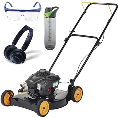 Briggs 450e Side Discharge Push Mower w/ 20` Deck & Accessories Bundle
