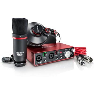 Scarlett 2i2 Studio USB Audio Interface & Recording Bundle - OPEN BOX