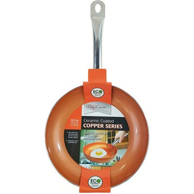 9.5-inch Copper Frying Pan - Non-Stick w/ Stainless Steel Handle (CP20030)