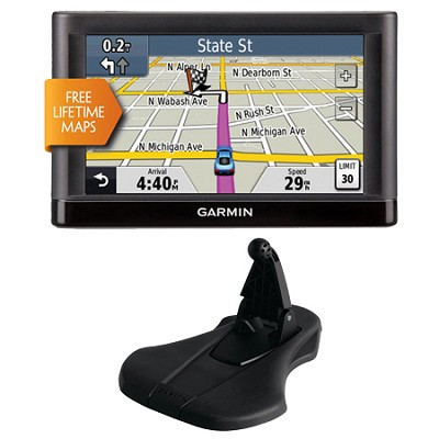 nuvi 52LM 5.0` GPS Navigation System with Lifetime Map Updates Mount Bundle