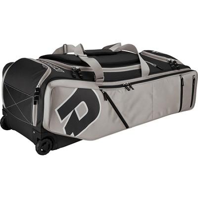 IDP Custom Black/Blue Baseball Softball Bag on Wheels - Black/Silver