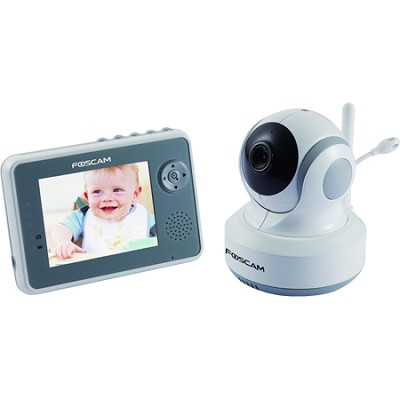 FBM3501 2.4ghz Pan/Tilt Wireless Home and Baby Monitor w/ 3.5in LCD