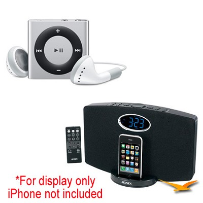 JiMS-211i Docking Station and iPod Shuffle Bundle