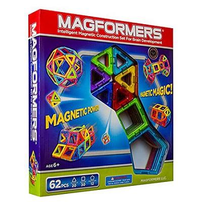 63070 Rainbow 62pc Magnetic Construction Set