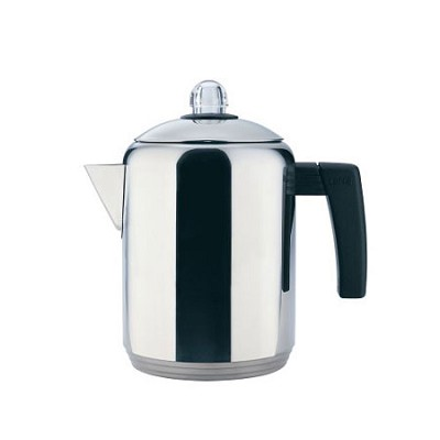 4- to 8-Cup Polished Stainless Steel Stovetop Percolator, 1.5 Quart