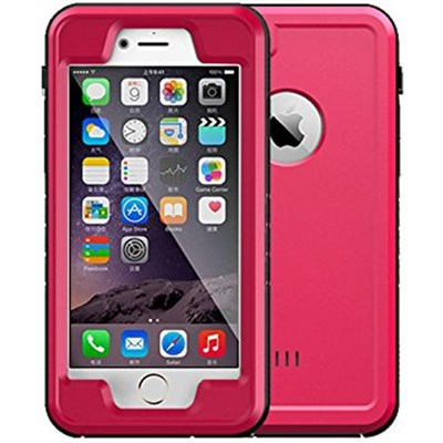 Pink 4.7` Shock Resistant Waterproof Case for Apple iPhone 6/6S