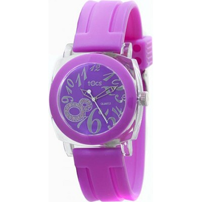 `Crystal 8` Analog Round Watch Purple/Pink - 401265/401173