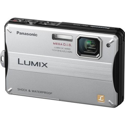 Lumix DMC-TS10S 14.1 MP Digital Camera (Silver) - OPEN BOX
