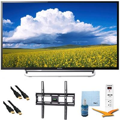 60` 1080p LED Smart HDTV Motionflow XR 480 Plus Mount & HookUp Bundle KDL60W630B