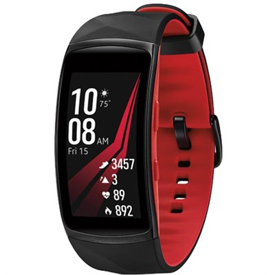 Gear Fit2 Pro Fitness Smartwatch - Red, Small - SM-R365NZRNXAR