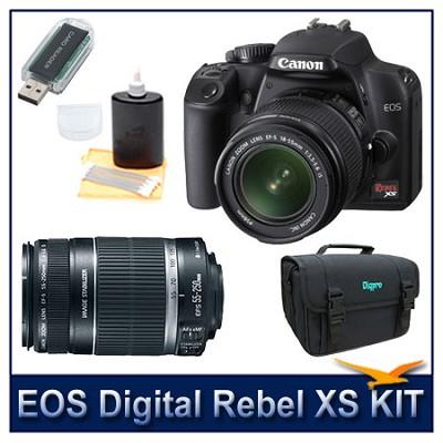 EOS Digital Rebel XS Black w/ 18-55 & 55-250 IS Lenses