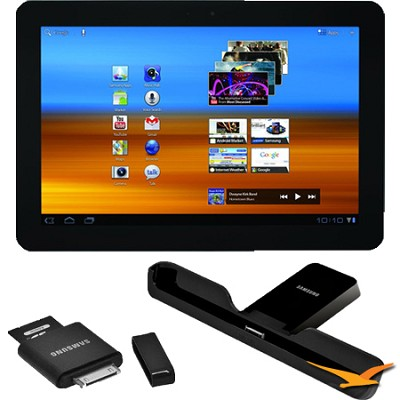 Galaxy 10.1` Tablet 16 GB with WiFi, Honeycomb 3.0 Dock and Reader Bundle