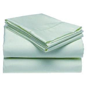 400 Thread Count Cotton Rich Sateen Solid Sheet Set - Aqua (Queen)