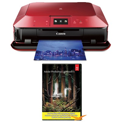MG7120 Wireless Inkjet Photo All-In-One Printer - Red w/ Photoshop Lightroom 5