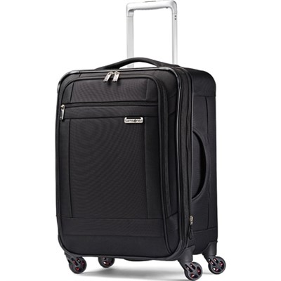 SoLyte 20` Expandable Spinner Carry On Suitcase Luggage - Black - OPEN BOX