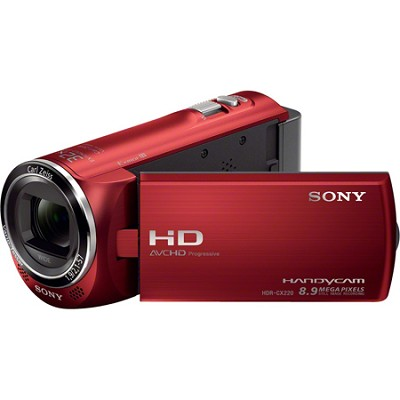 HDR-CX220/R Full HD Camcorder (Red) - OPEN BOX