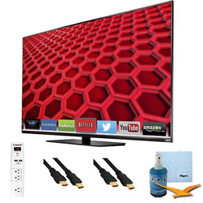 55` Full-Array LED Smart HDTV 1080p Full HD 120Hz Plus Hook-Up Bundle - E550i-B2