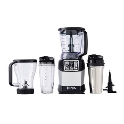 BL491 Nutri Auto-iQ 1200 Watts Compact System 6-Speed Blender - Black/Silver
