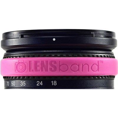 Stop Zoom Creep for One Size Fits All Lens - Hot Pink
