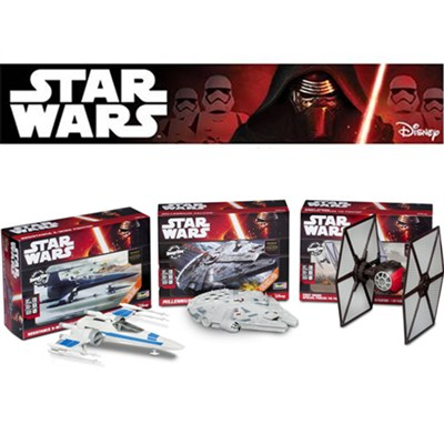 Model Collectors Kit with Millennium Falcon, TIE Fighter and Rebel X-wing